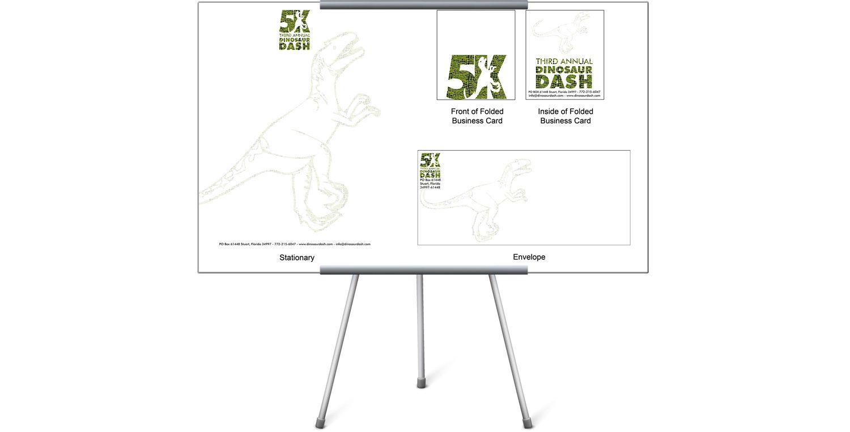 3rd Annual Dinosaur Dash Branding