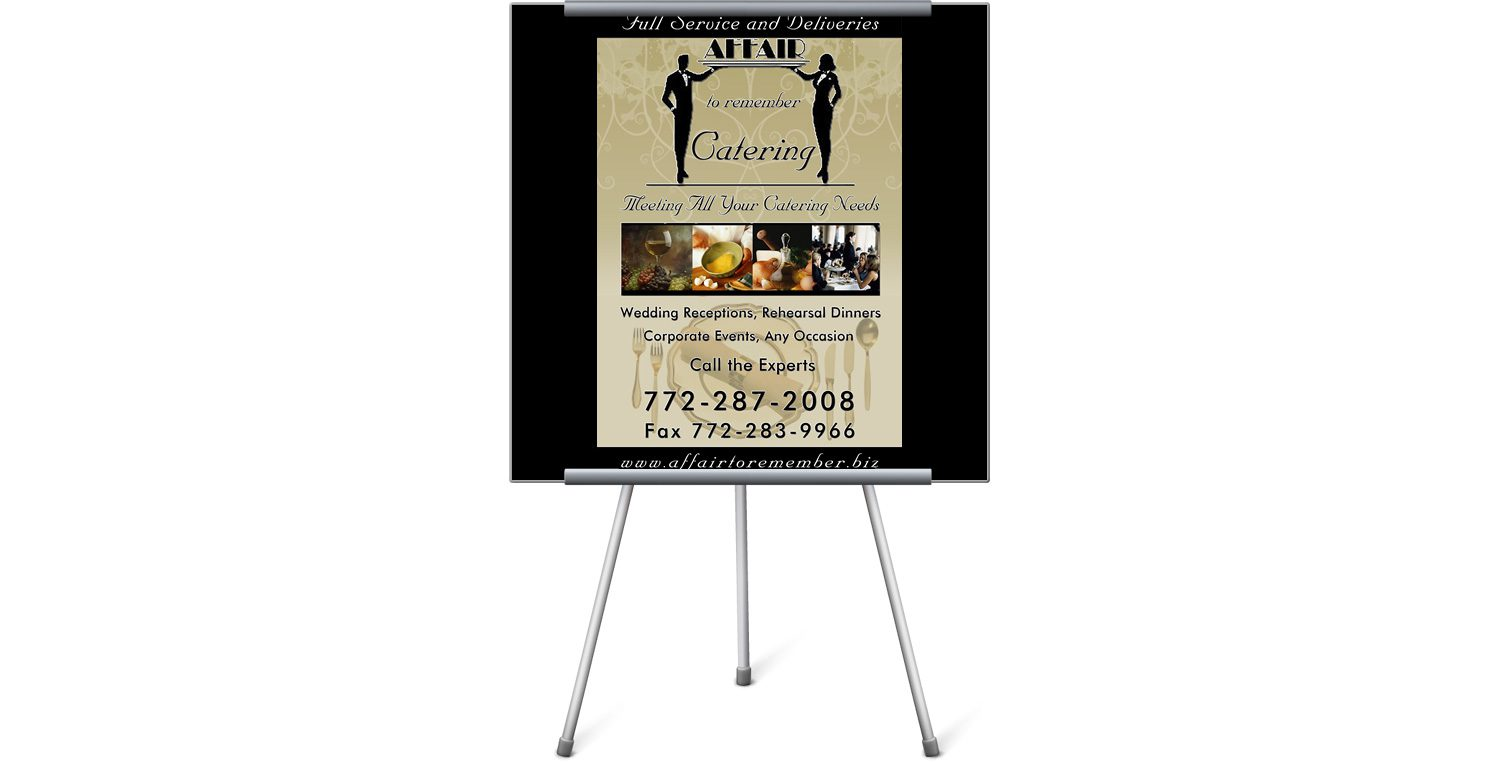 Affair to Remember Catering Print Ad