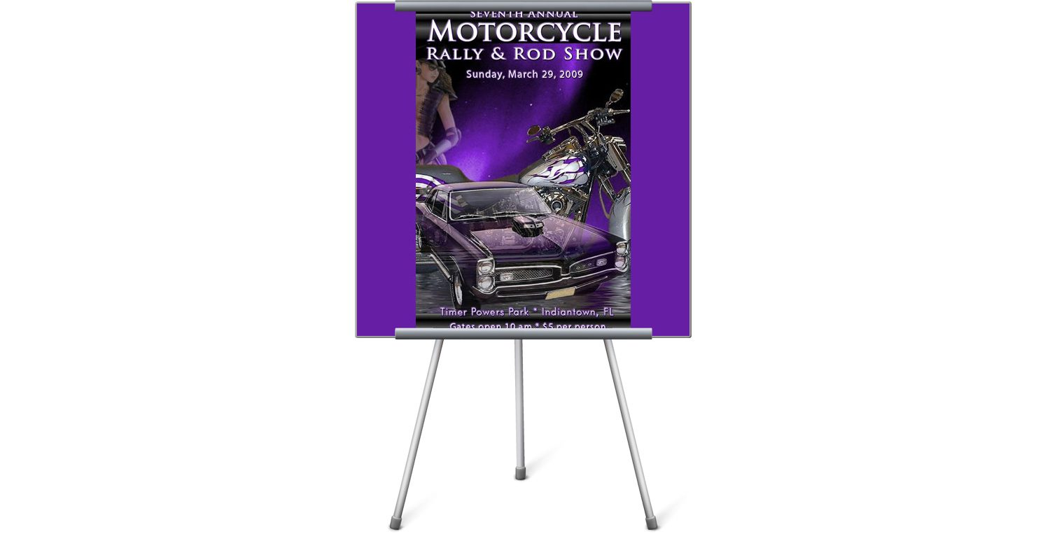 Motorcycle Rally & Rod Show Poster