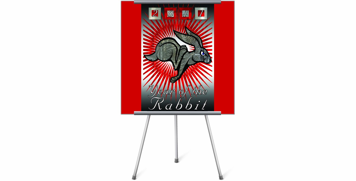 2011 Year of the Rabbit Poster